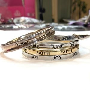 Jewelry - Bangle Set Love Joy Hope